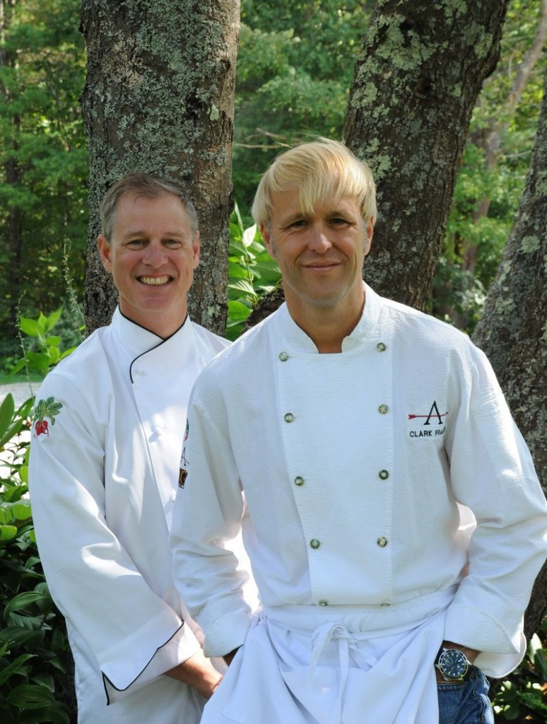 Arrows Resturant chefs Clarke Frasier, left, and Mark Gaier, are hosts for the