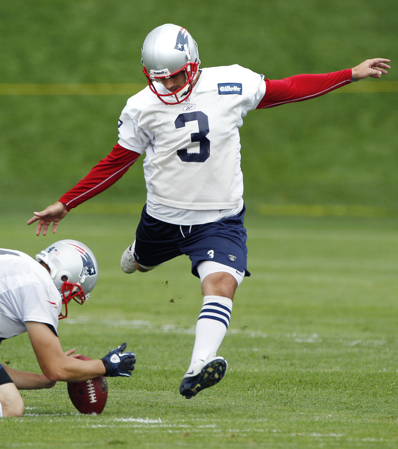 Stephen Gostkowski of the New England Patriots will be kicking off from the 35 instead of the 30 because of a new rule this season, but doesn't believe it will affect his style.