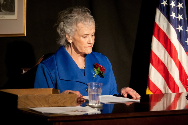Sally Jones portrays Margaret Chase Smith in