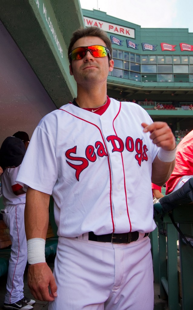 Mark Wagner was hoping that by now he would be wearing a Red Sox uniform at Fenway Park, not a Sea Dogs uniform. But he's determined not to let the roadblocks get him down.