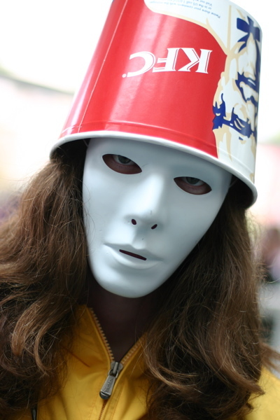 Buckethead performs on Sunday at the State Theatre in Portland.