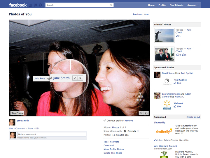 A screen shot shows a new Facebook feature that will allow a user to pre-approve photos before friends can post the pictures with the user's name attached.