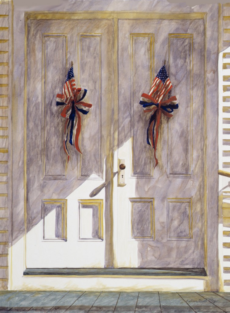 """""""God and Country,"""" from Barbara Ernst Prey's flag series, begun soon after the Sept. 11 terrorist attacks."""