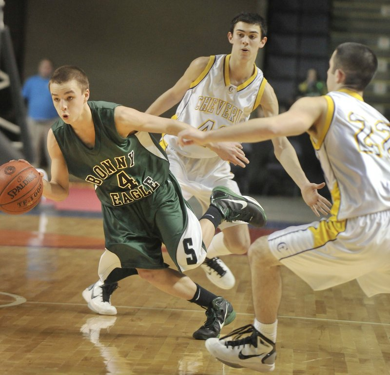 Dustin Cole, as a Bonny Eagle High freshman, was hard to handle for Southern Maine Activities Association opponents last season, and made the league all-star team.
