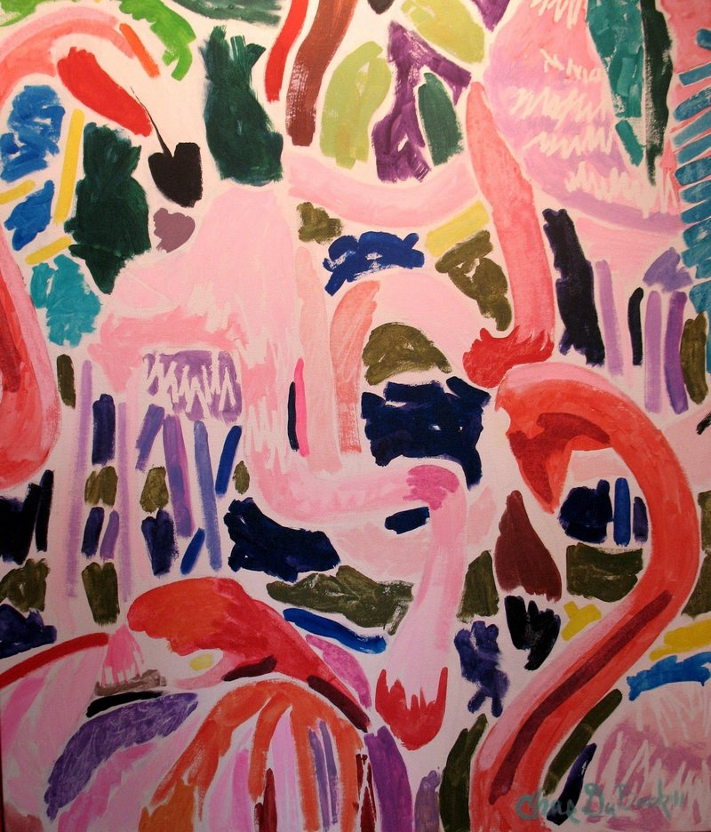 """Hot Pink"" by Charles S. DuBack, from his show in Tenants Harbor."