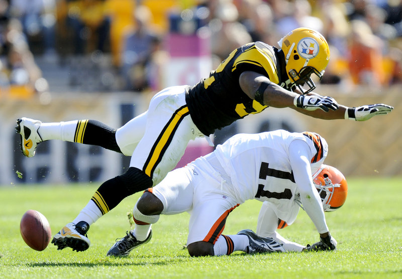 James Harrison knows all about the NFL's new emphasis on fines for big hits. Harrison was fined $75,000 for this hit on Cleveland receiver Mohamed Massaquoi in October of last year as Massaquoi was knocked out of the game.