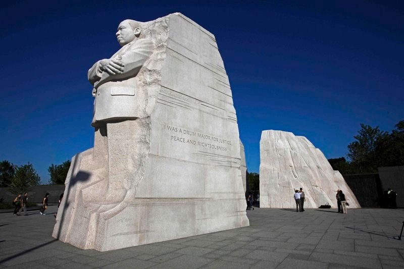 The Martin Luther King Jr. memorial on the National Mall in Washington.