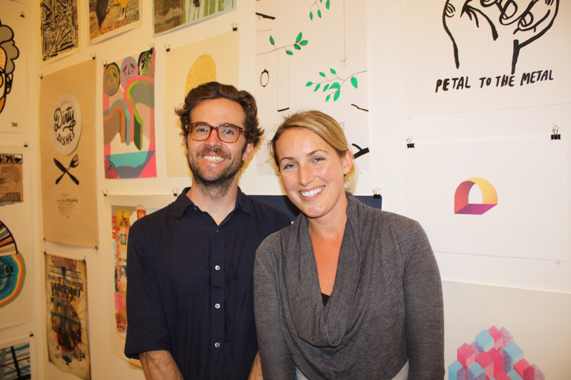 J Bell, an artist who works for Mike Perry, and Space board member Chelsea H.B. DeLorme.