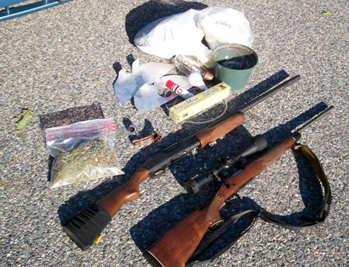 State police say they seized these items from the home of Sean Johnson, 23.