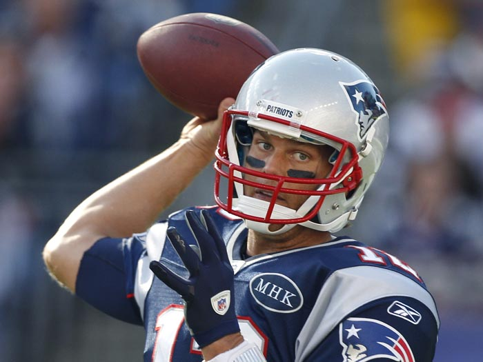 New England Patriots quarterback Tom Brady: