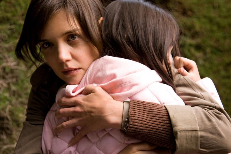 Kim (Katie Holmes) comforts Sally (Bailee Madison) in Guillermo del Toro's