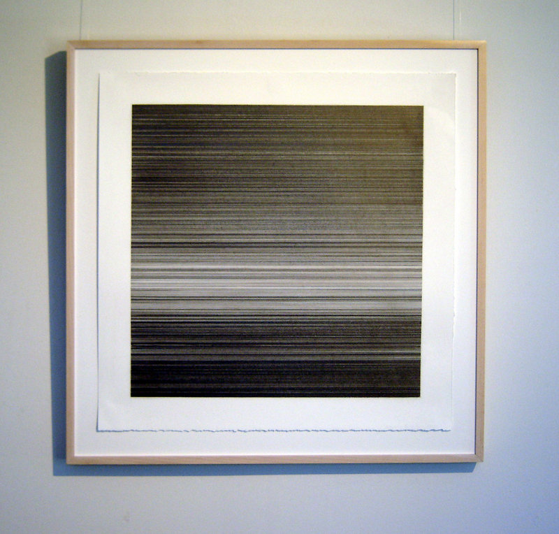 """Kate Beck's """"EXO,"""" graphite on paper."""