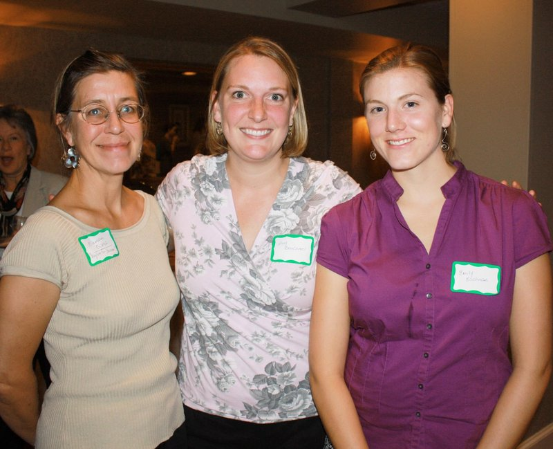 Elizabeth Burke of English for Business, and Amy Bouchard and Emily Eschner of The Sage Organizer.