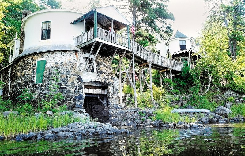 """The Stone Cottage, built in 1905 on Androscoggin Lake, will be on the """"Homes of Wayne Tour: Classic Camps and Village Homes"""" on Saturday. It was constructed for James Lufkin, who invented a button-hole maker for sewing machines."""
