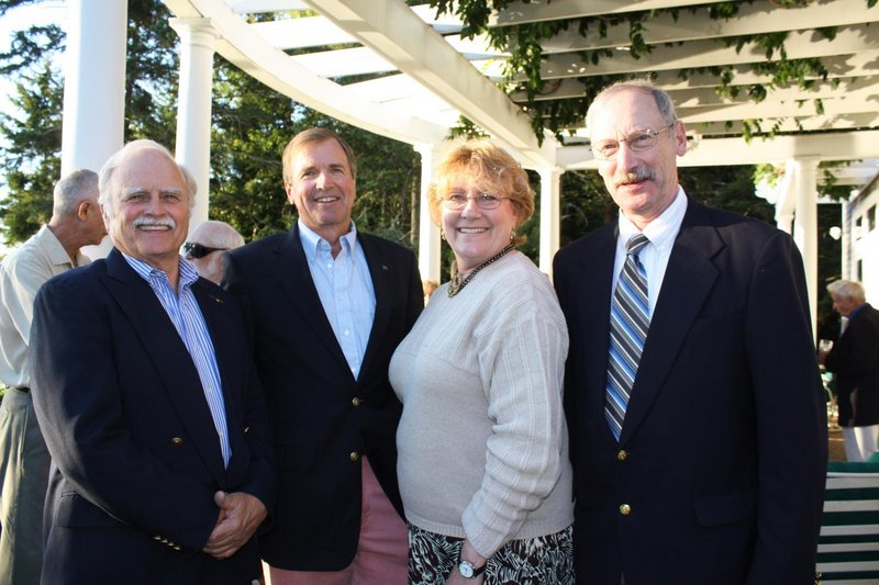 Peter Stratton, party host Lowell Watson, artist Marguerite Robichaux, and artist J. Thomas Higgins.