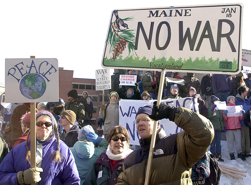 It's March 19, 2003. One day before the United States invades Iraq, an anti-war protest in Portland's Monument Square is about to spawn a fistfight.