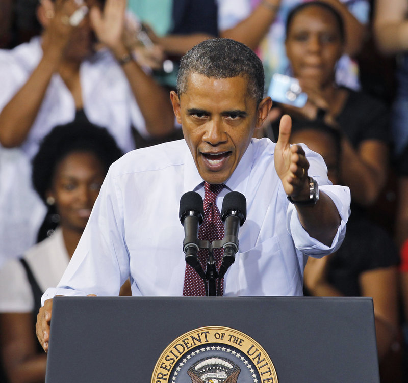 "President Obama promotes his jobs plan in Richmond, Va. ""It will jump-start an economy that has stalled,"" he said Friday."