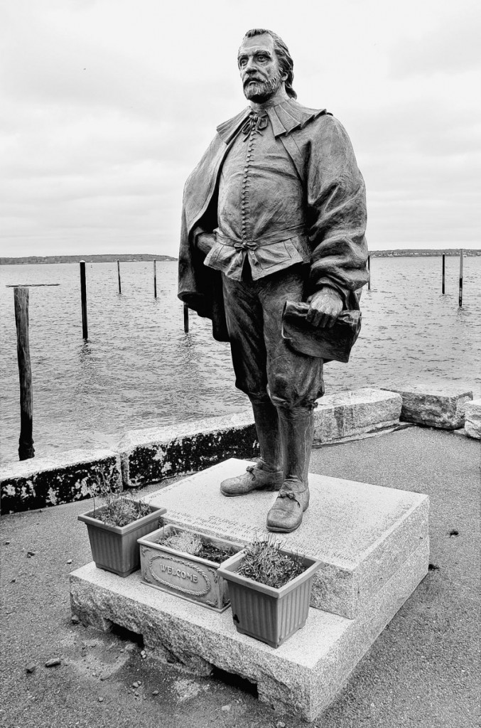 The statue of George Cleeve, rejected once by the city, should be moved to Boothby Square.