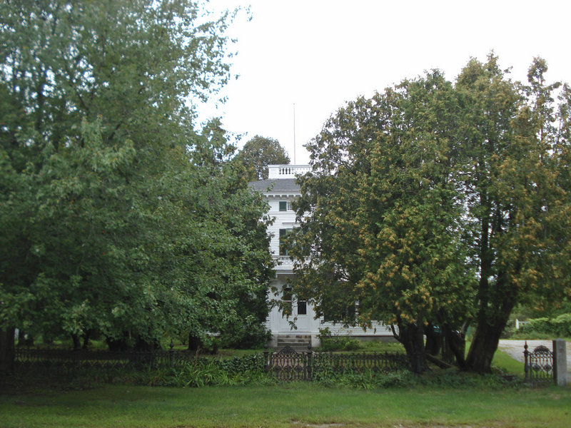 Trees and other growth had shielded the mansion from view from West Main Street.