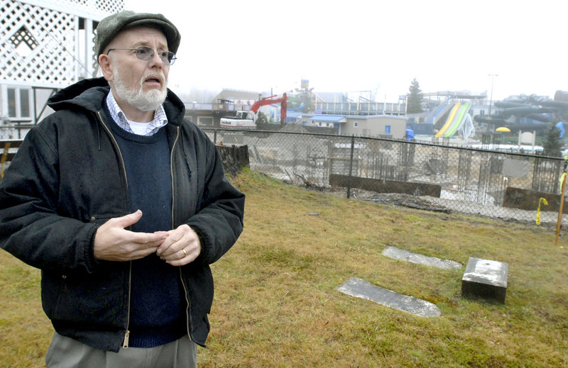 Bob Phillips, whose grandparents are buried in the cemetery next to Funtown/Splashtown in Saco, said in 2006 that he was shocked by how close the park expansion was to the graves.