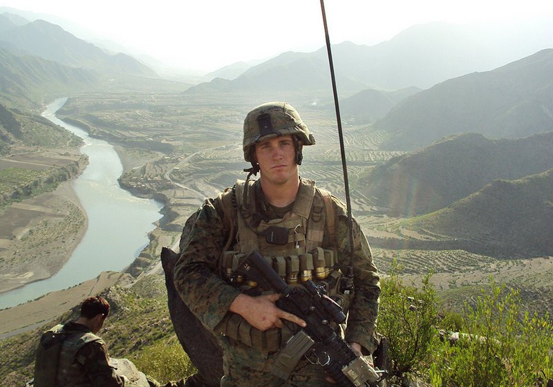Dakota Meyer poses for a photo while deployed in Afghanistan in this undated photo released by the Marines.