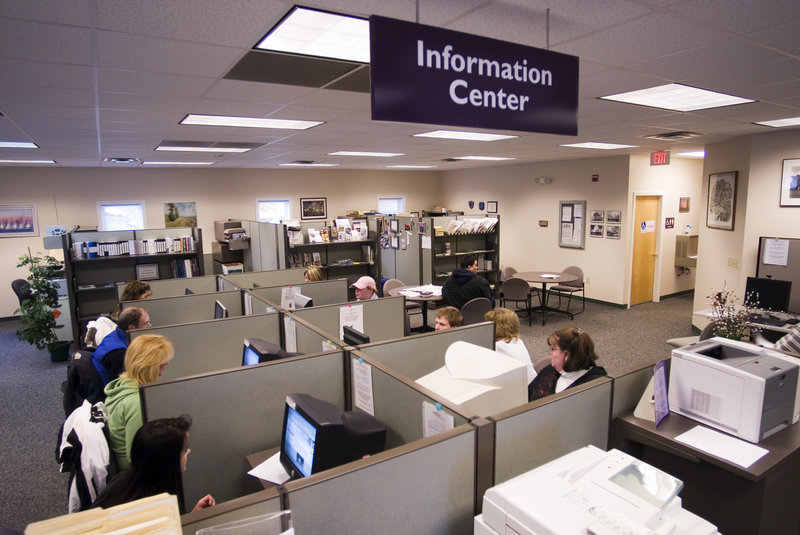 The Career Center in Springvale provides job referrals and search information as well as other help for job-seekers.