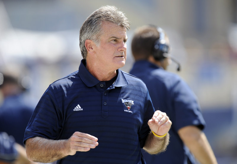 Jack Cosgrove, the UMaine football coach, says his team won't get caught by surprise by Albany for a third time.