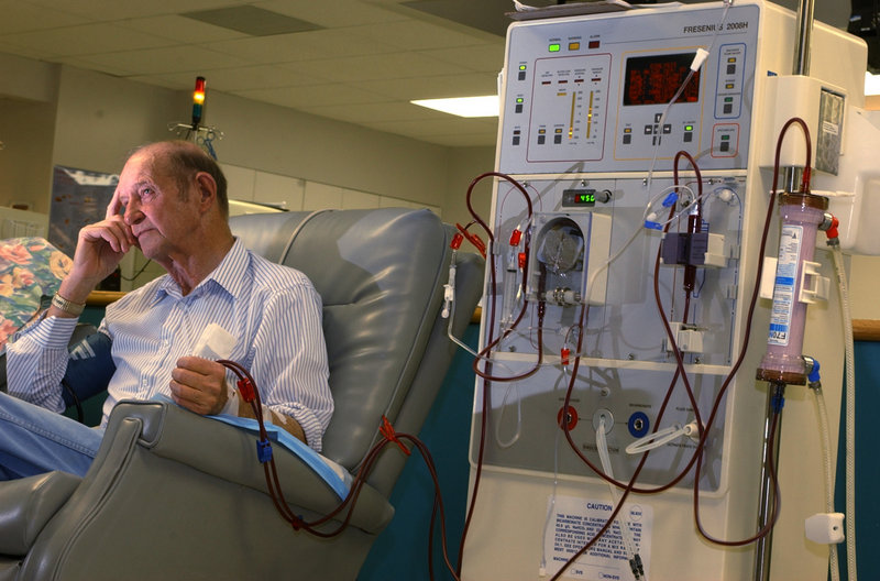 The three-day dialysis schedule has been around since the mid-1960s and gives patients a weekend break from the grueling hours of being hooked up to a machine.