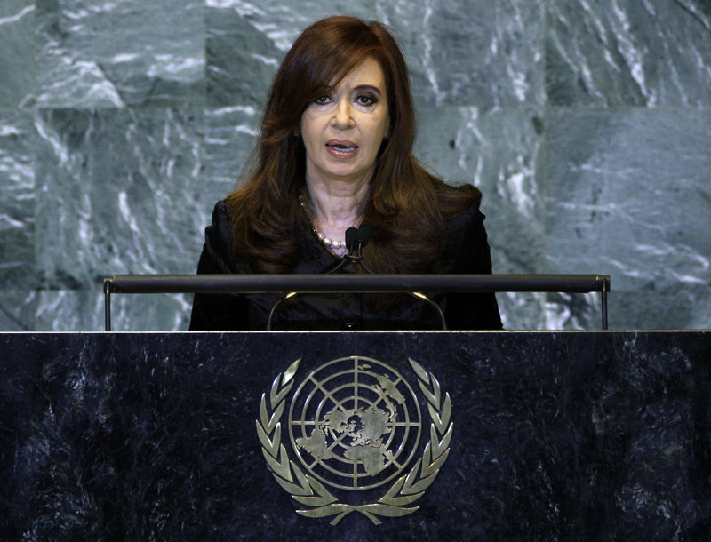 """Cristina Fernandez, president of Argentina, is """"very proud"""" of recent social protections amid a thriving economy rising by 8 percent this year."""