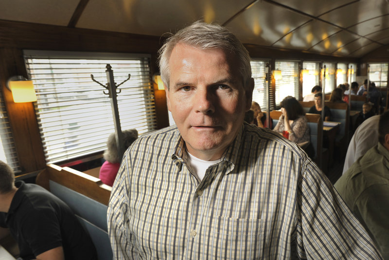 "Munjoy Hill native Tom Manning rescued and reopened the Miss Portland Diner at its new location on Marginal Way in Portland in 2008. A magazine executive, Manning says, ""I have a new respect for people who run this type of operation."""