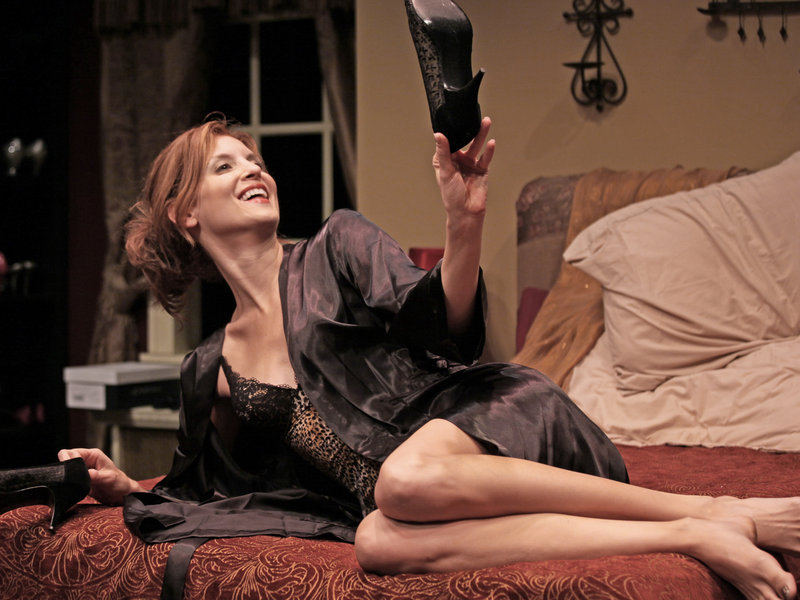 """Dana Cuomo plays Haley Walker, a single mom and committed shoe-oholic who recounts romance gone wrong in the Good Theater's """"Bad Dates."""""""