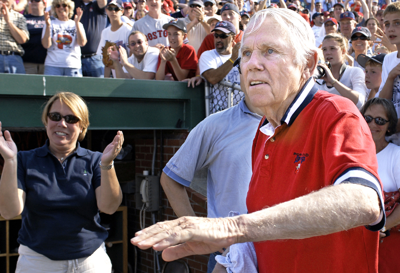 Daniel Burke, owner of the Sea Dogs since their inception in 1994, celebrates the team's victory over Akron to win the Eastern League championship in September 2006. Burke died Wednesday at age 82 from complications of Type 1 diabetes.