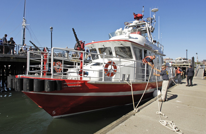 The City of Portland IV hit an underwater object near Fort Gorges on Oct. 15, 2011, in the second of two high-profile and costly accidents involving the 65-foot boat. This year, fireboat crews got high-level training.
