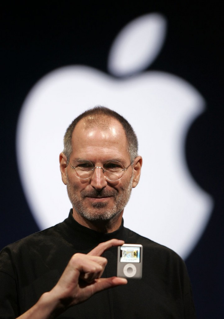 Apple CEO Steve Jobs introduces the Apple Nano in San Francisco in 2007. Apple, on Wednesday, said Jobs has died. He was 56.