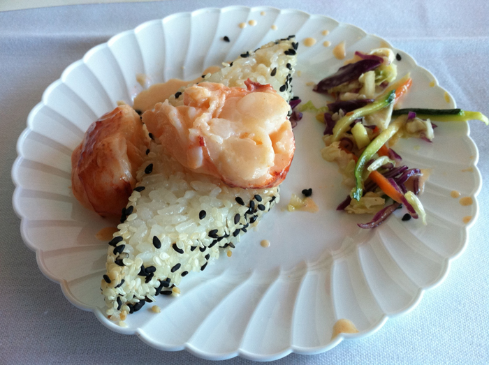 The winning dish: Tom Reagan's Slow Poached Maine Lobster Tail Nipponese