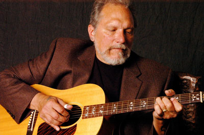 Jorma Kaukonen, of Hot Tuna and Jefferson Airplane fame, performs at One Longfellow Square in Portland on Saturday.