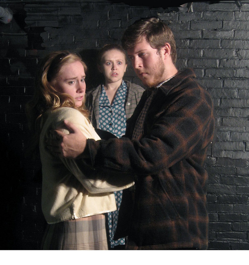 """Laura Collard, left, Dolly Constantine and Matthew Defiore in """"A View from the Bridge."""""""