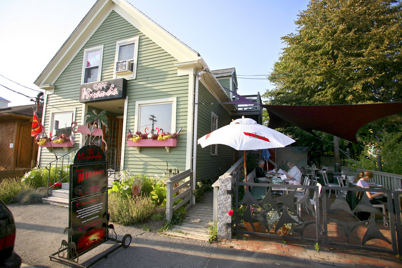 Opened in 1993, Cafe Miranda in Rockland features a widely varied menu with Spanish, Italian, Mexican and Asian influences along with good old-fashioned comfort food.