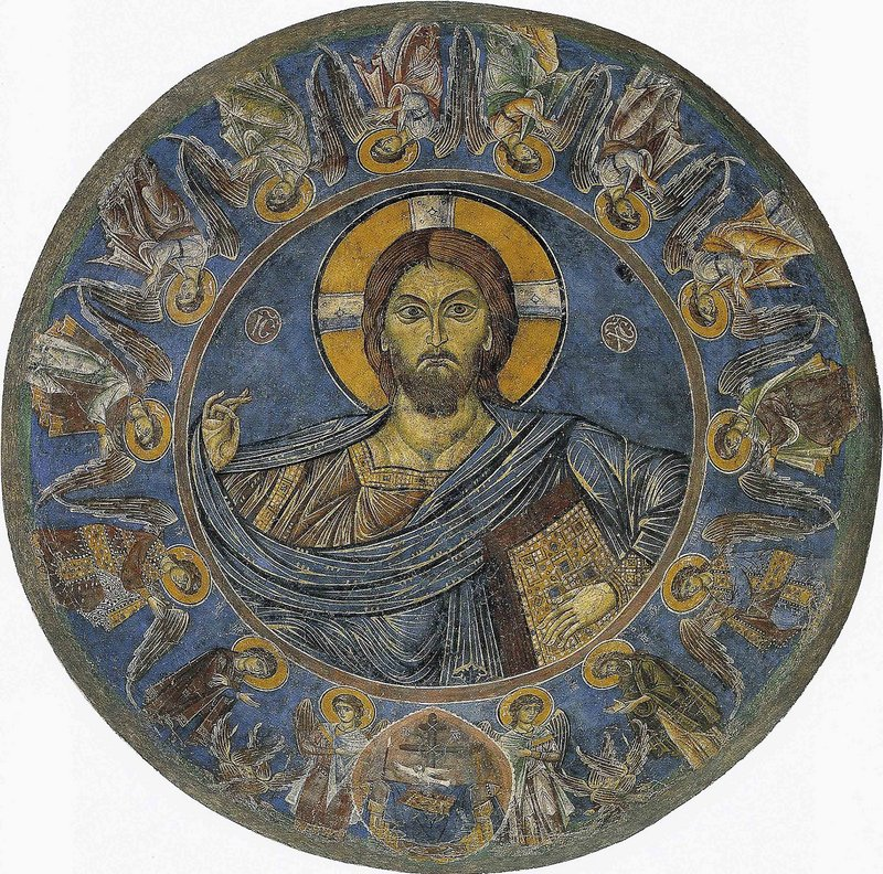 Frescoes that will be returned to Cyprus include this depiction of Christ Pantocrator surrounded by a frieze of angels.