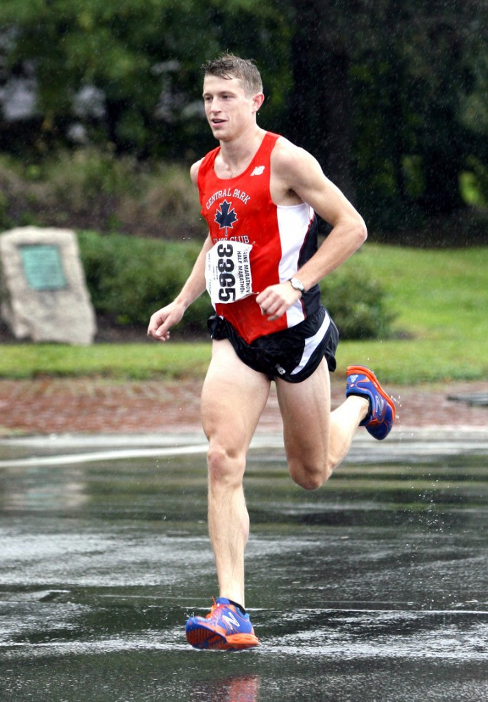 Andrew Combs, a 2006 graduate of Bowdoin currently in graduate school in New York, won the men's half marathon race in 1:09:20.