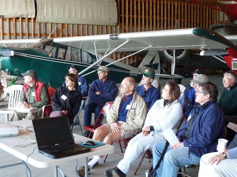 Presumpscot Regional Land Trust members meet at Randall Orchards in Standish on Sept. 17.