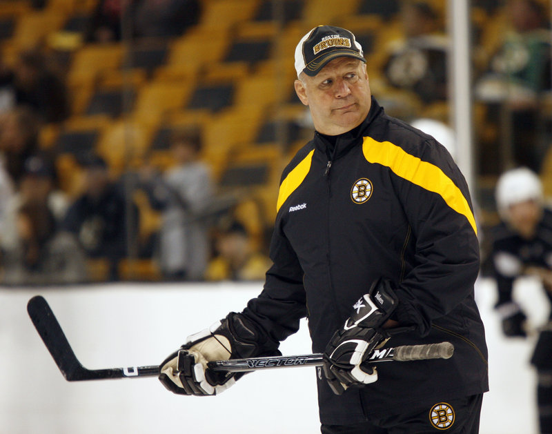 Another championship? Right now Boston Bruins Coach Claude Julien is only thinking about 82 games that must be played before the playoffs even begin next spring.