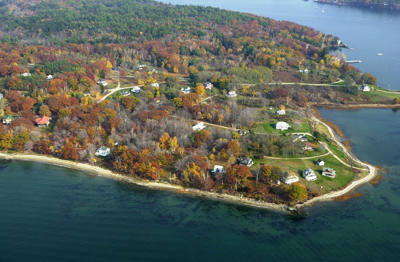 Great Diamond Island in Casco Bay proved the perfect place for the Boston Bruins to have a little team bonding before another National Hockey League season begins Thursday.