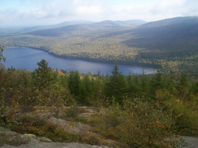 Donnell Pond is part of the view from atop Schoodic Mountain.