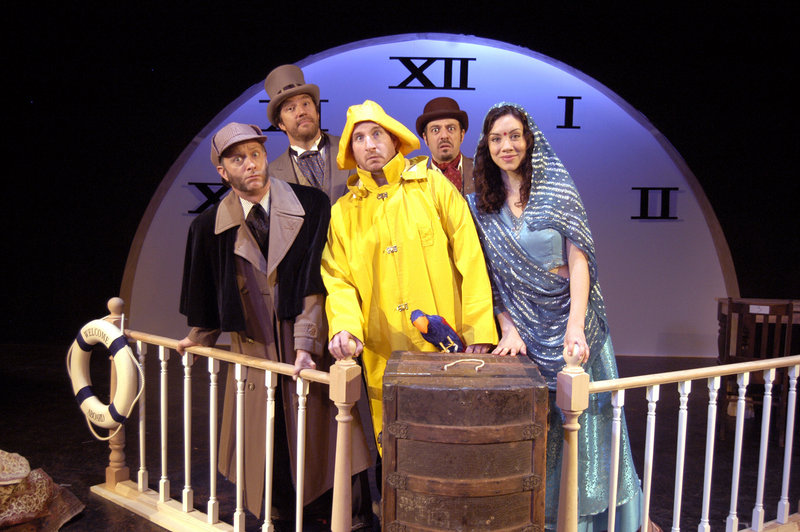 "The cast of ""Around the World in 80 Days,"" which opens Friday at The Public Theatre"""