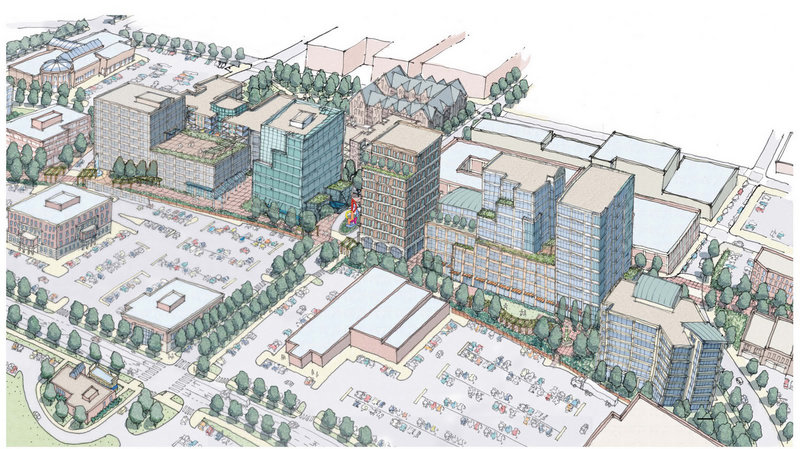 An artist's rendering shows a proposal by The Federated Cos. for land it purchased along Somerset Street in Portland's Bayside neighborhood.