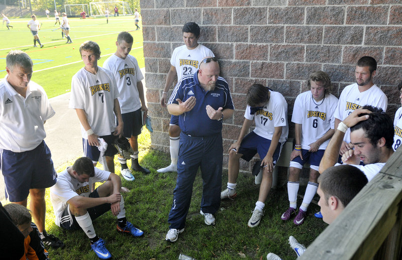 Mike Keller, the USM men's soccer coach, said the team has started to joke and laugh a little more, but the bounce has yet to return.