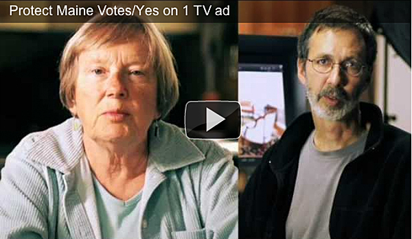 This image, taken from protectmainevotes.com, shows the commercial that the Protect Maine Votes/Yes on 1 campaign hopes also to air on television. To link to the ad, go to this story at pressherald.com.