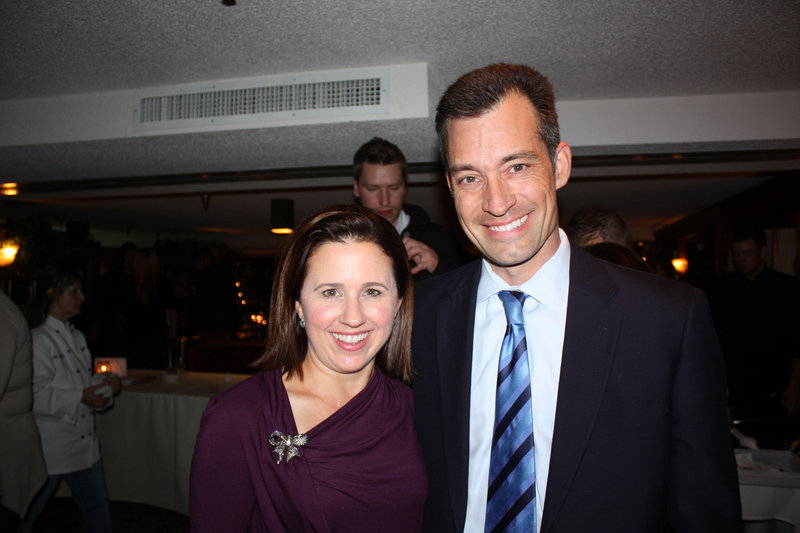 Monica Sanders and her husband, Jeff Sanders, who is the chief operating officer of Maine Medical Center.