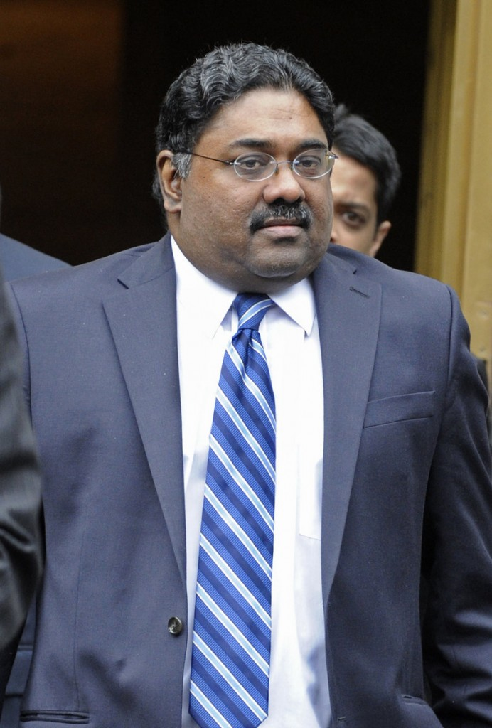 Raj Rajaratnam, co-founder of Galleon Group LLC, leaves Manhattan federal court after his sentencing Thursday. His 11-year term was the longest ever for insider trading.